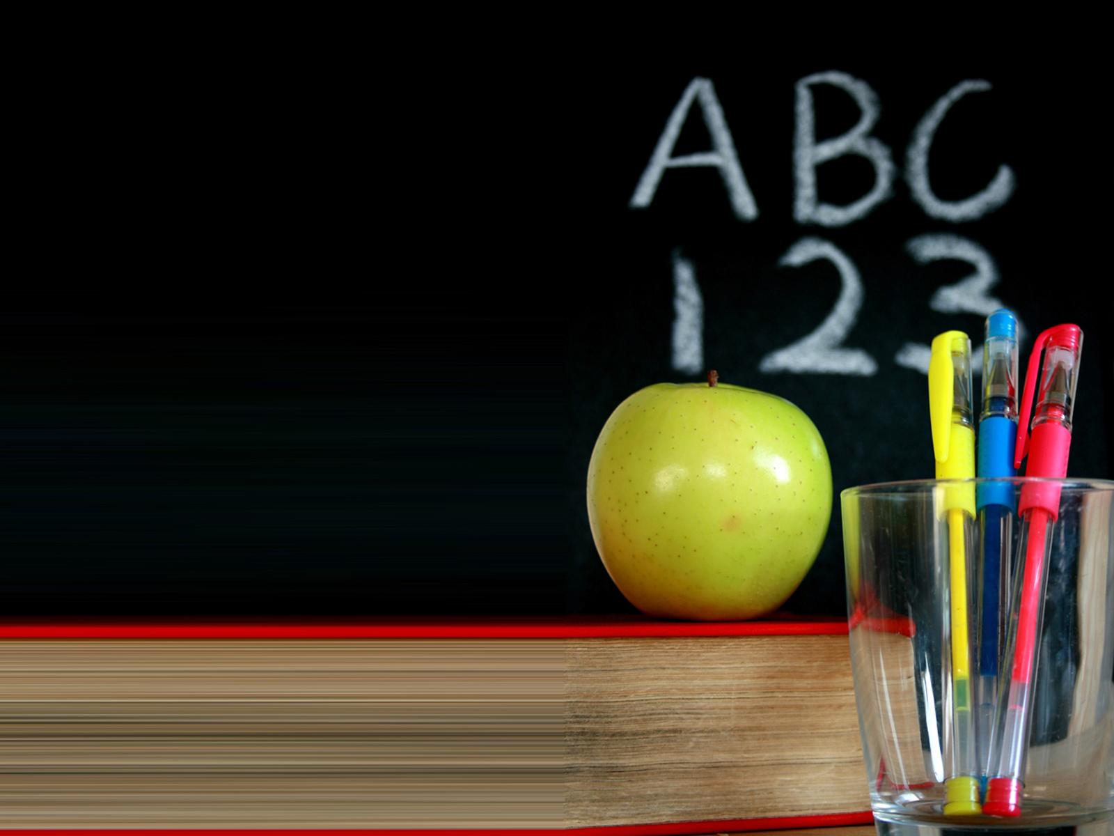 chalkboard apple