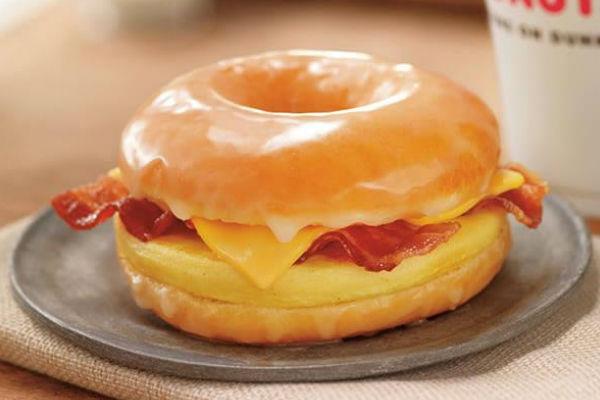 Dunkin' Donuts' Glazed Donut Breakfast Sandwich
