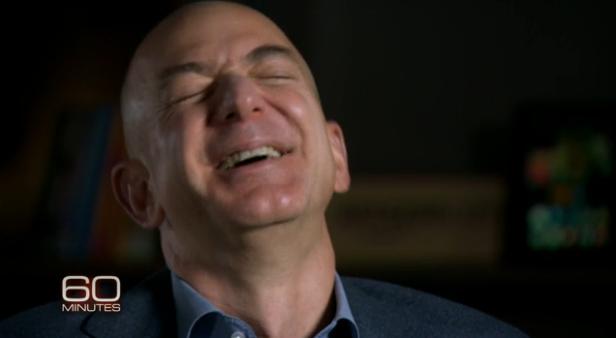 Bezos Laughing