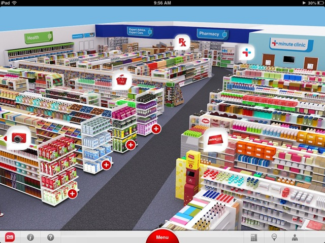 CVS 3D store app
