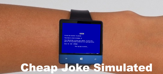 Microsoft Smartwatch Joke