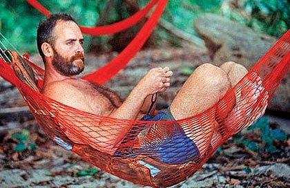 Richard Hatch Lounging