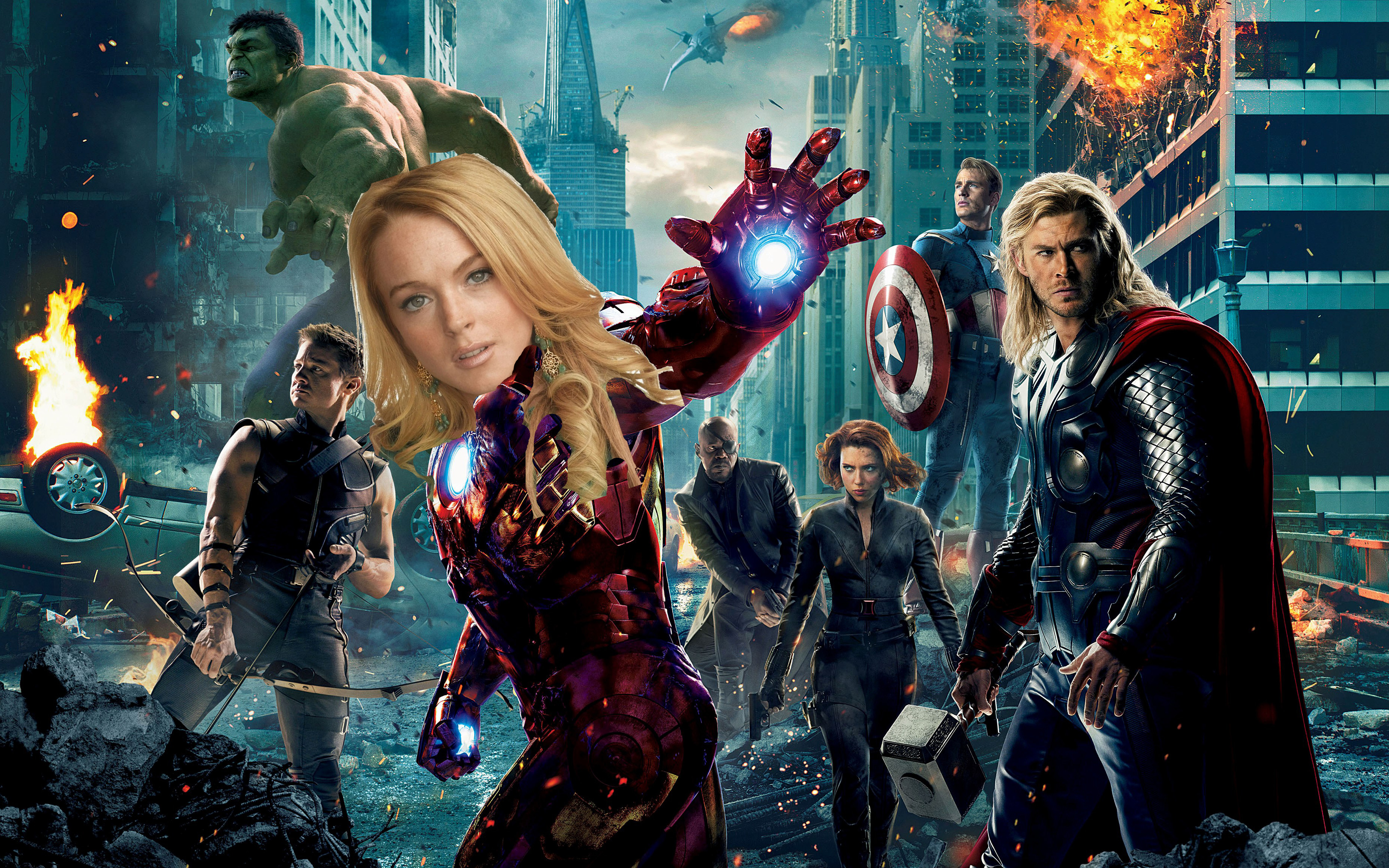 Avengers with Lohan
