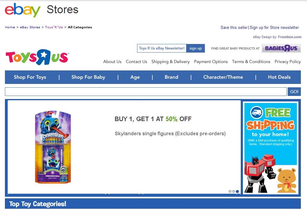 toys r us ebay