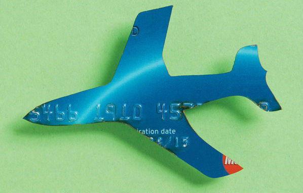 credit card airplane