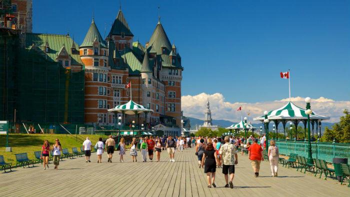 Dufferin Terrace in Quebec City