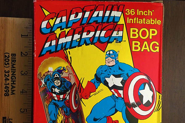 Captain America bop bag