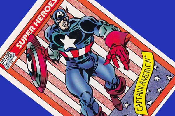 Captain America trading card