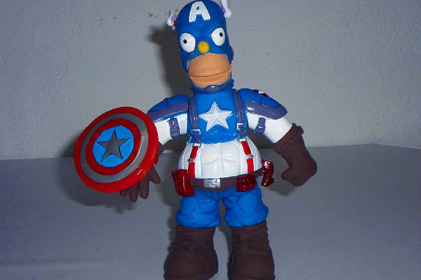 Captain America Homer Simpson figure