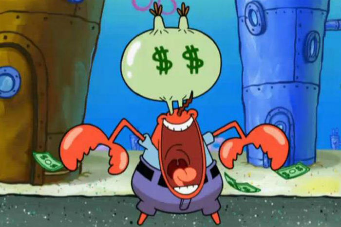 Mr. Krabs money