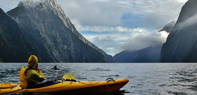 kayaking in New Zealand