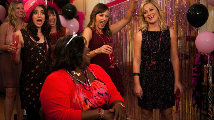 Bachelorette party on Parks and Recreation