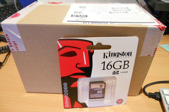 box with SD card