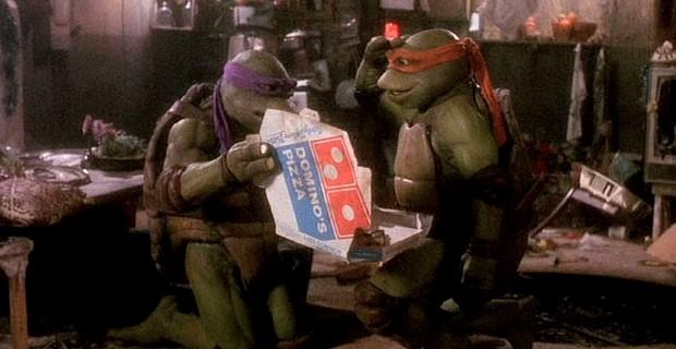 TMNT with Domino's pizza