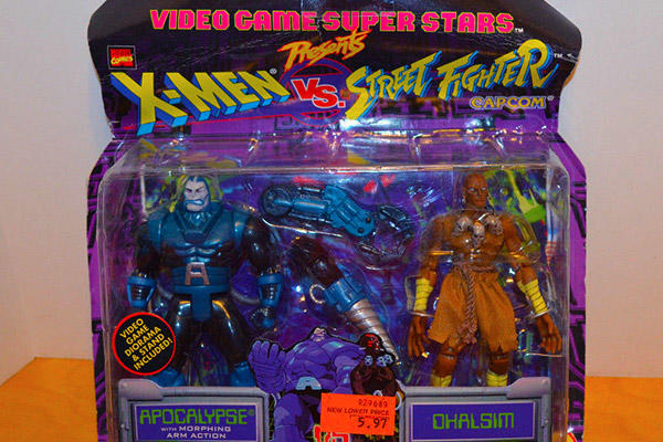 X-Men vs. Street Fighter action figures