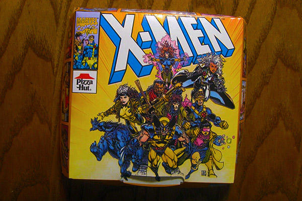 X-Men Pizza Hut box