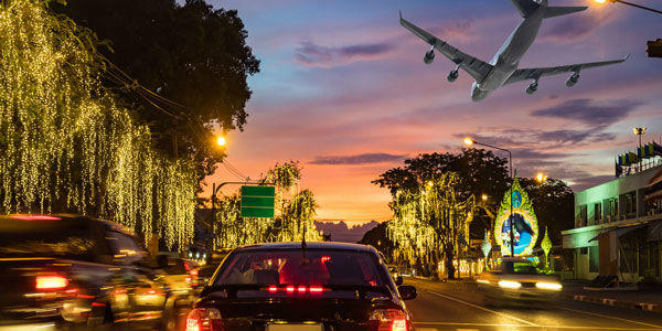 cars and airplane