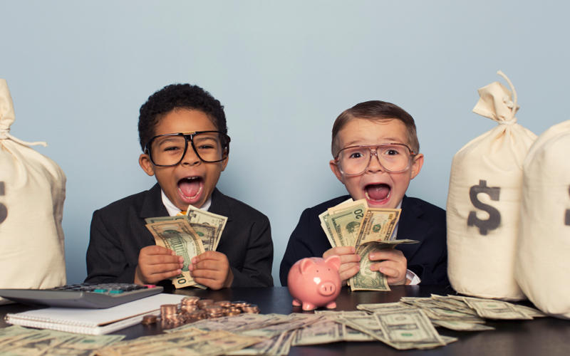 kids with money