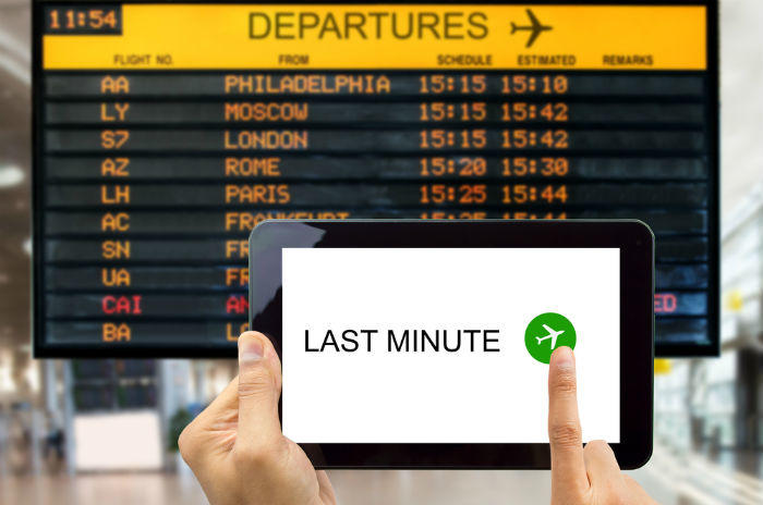 booking last-minute travel