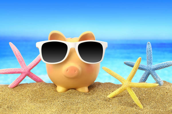 summer piggy bank