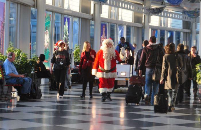 Santa in airport
