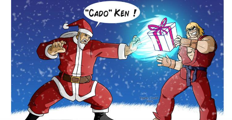 Santa Street Fighter