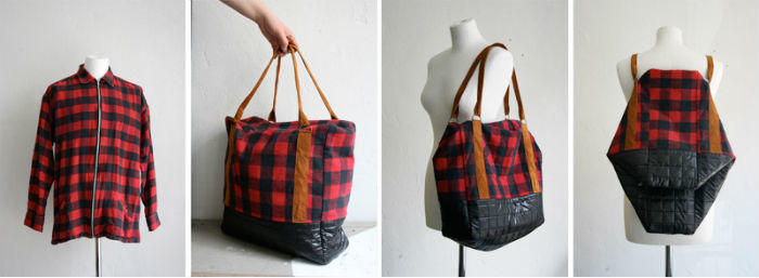 shirt made into bags