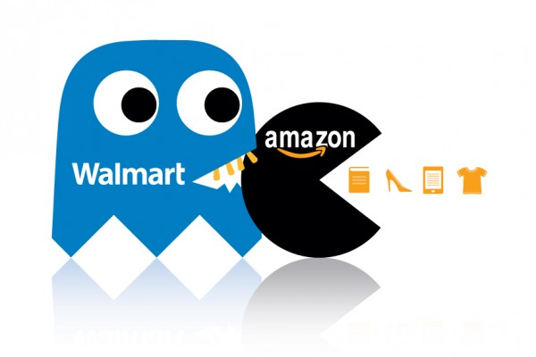 Amazon and Walmart Pac-man